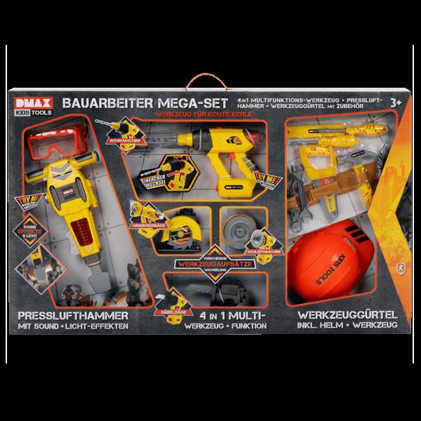 DMAX Kids Tools Bauarbeiter-Mega-Set (16-teilig)