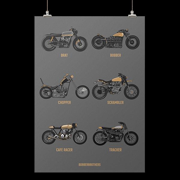 """Kunstdruck """"Motorcycle Style Guider"""" von Bobber Brothers"""